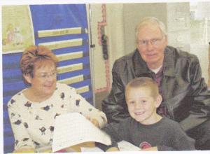 Cameron with Nana and Poppa